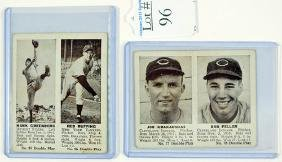 Two 1941 Double Play Cards Feller/Greenberg