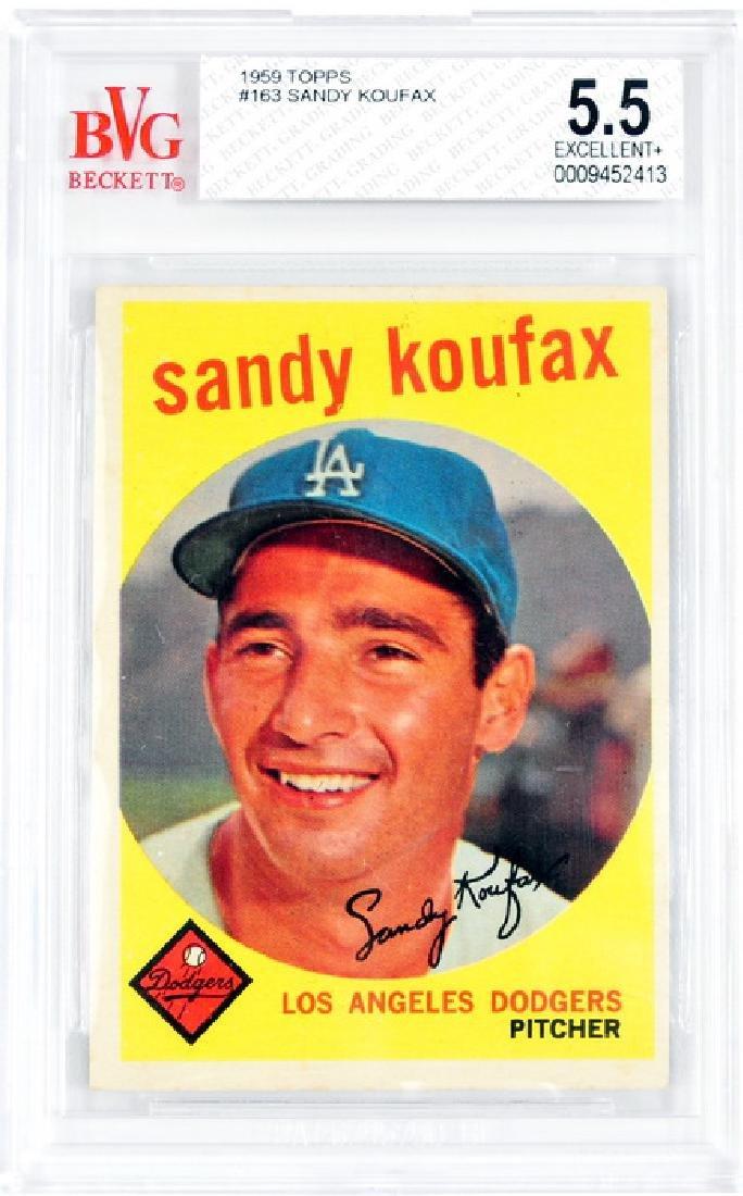 1959 Topps Sandy Koufax BVG 5.5