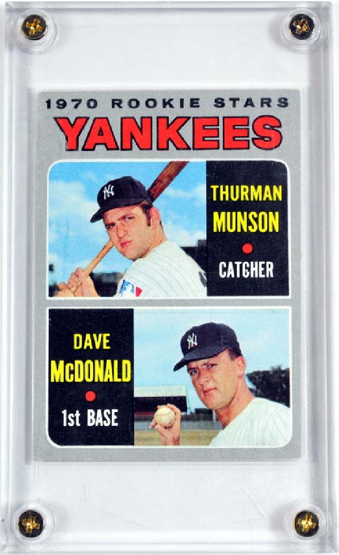 1970 Topps Thurman Munson Rookie