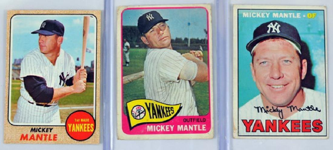 Three Vintage Mickey Mantle Cards