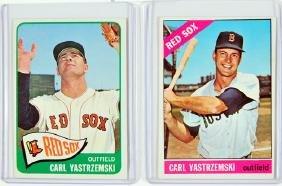 Two Carl Yastzemski Cards 1965 and 1966 Topps