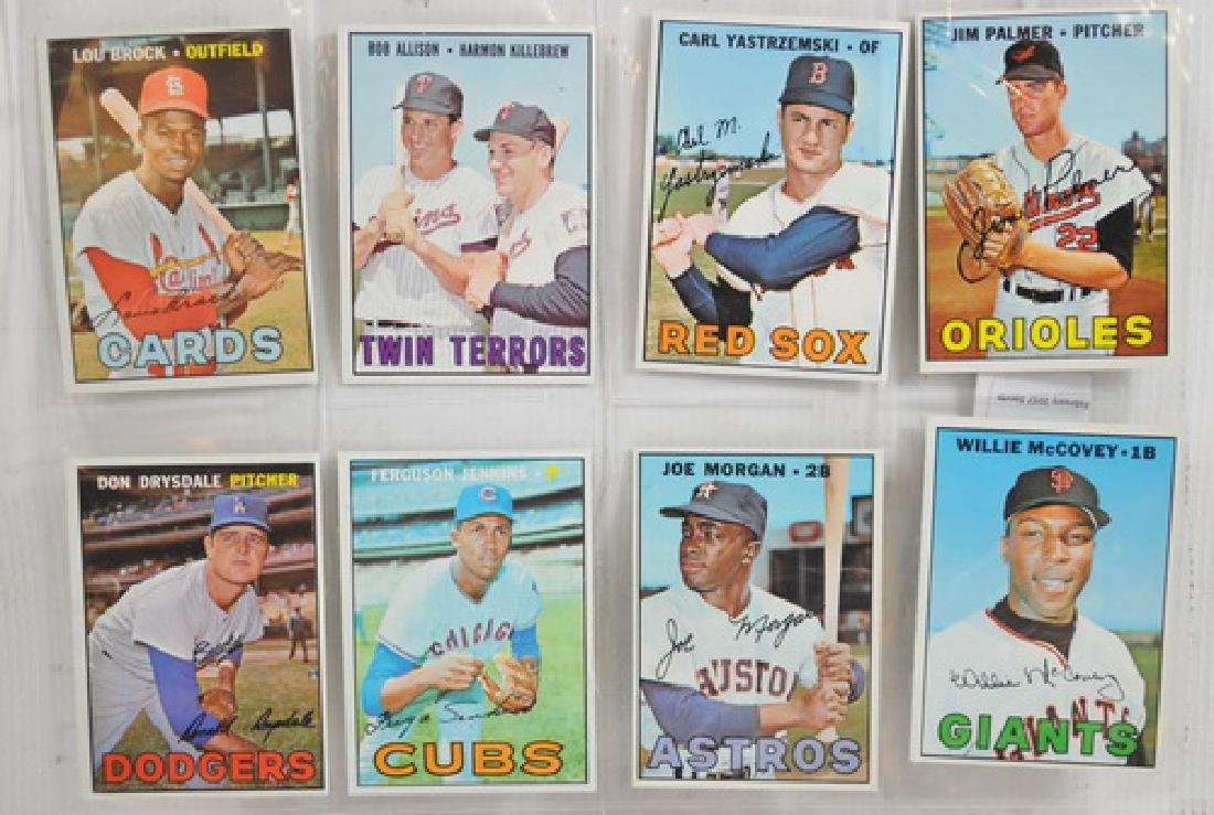 8 1967 Topps Baseball Hall of Famers