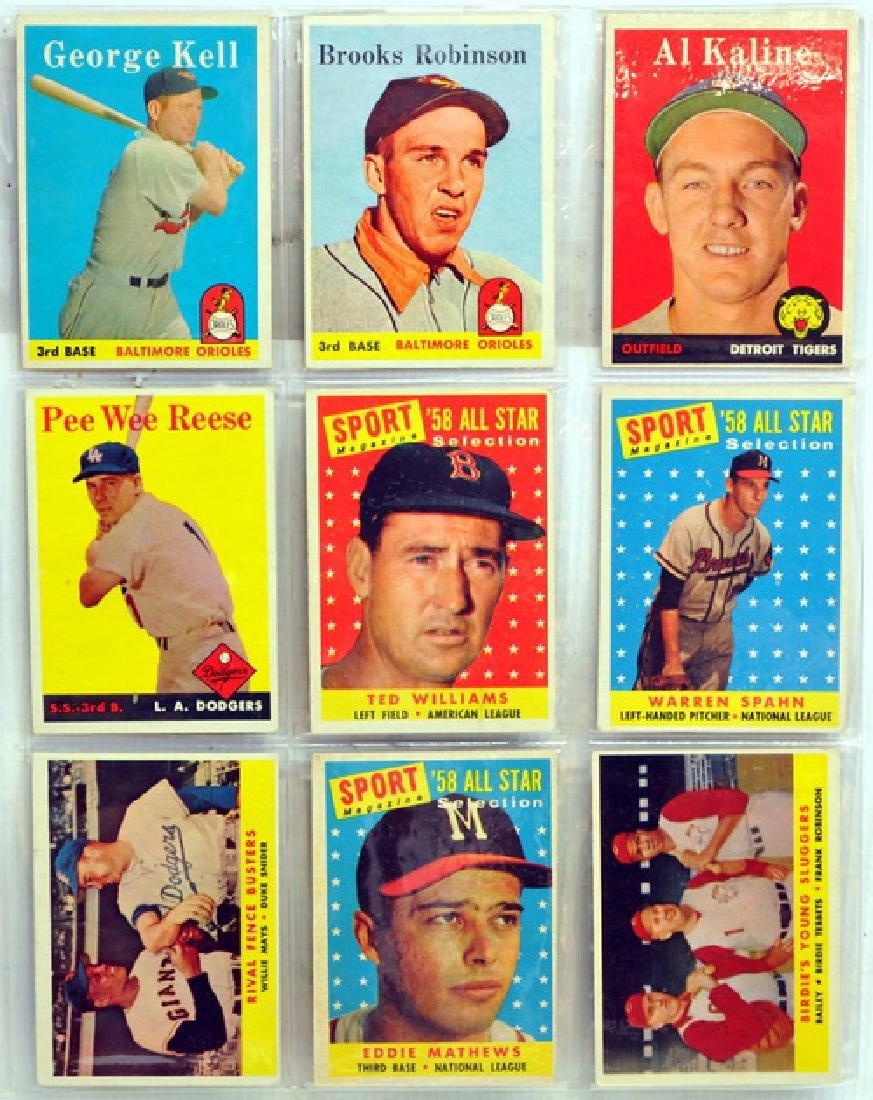 9 1958 Topps Baseball Hall Of Famers