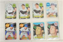 8 1969 Topps Stars Mint Condition