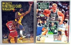 Pair Of Vintage Beckett Basketball Magazines
