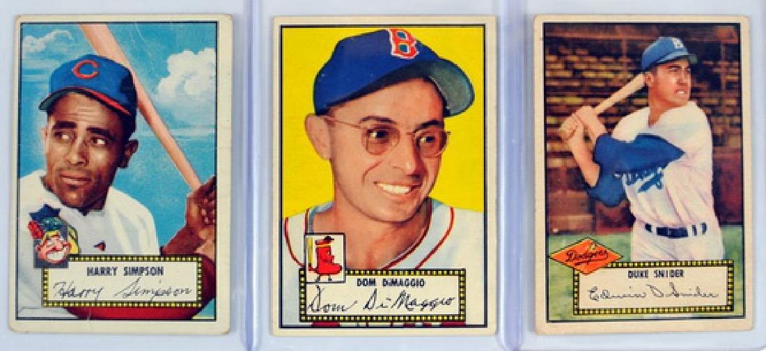 9 1952 Topps Baseball Cards