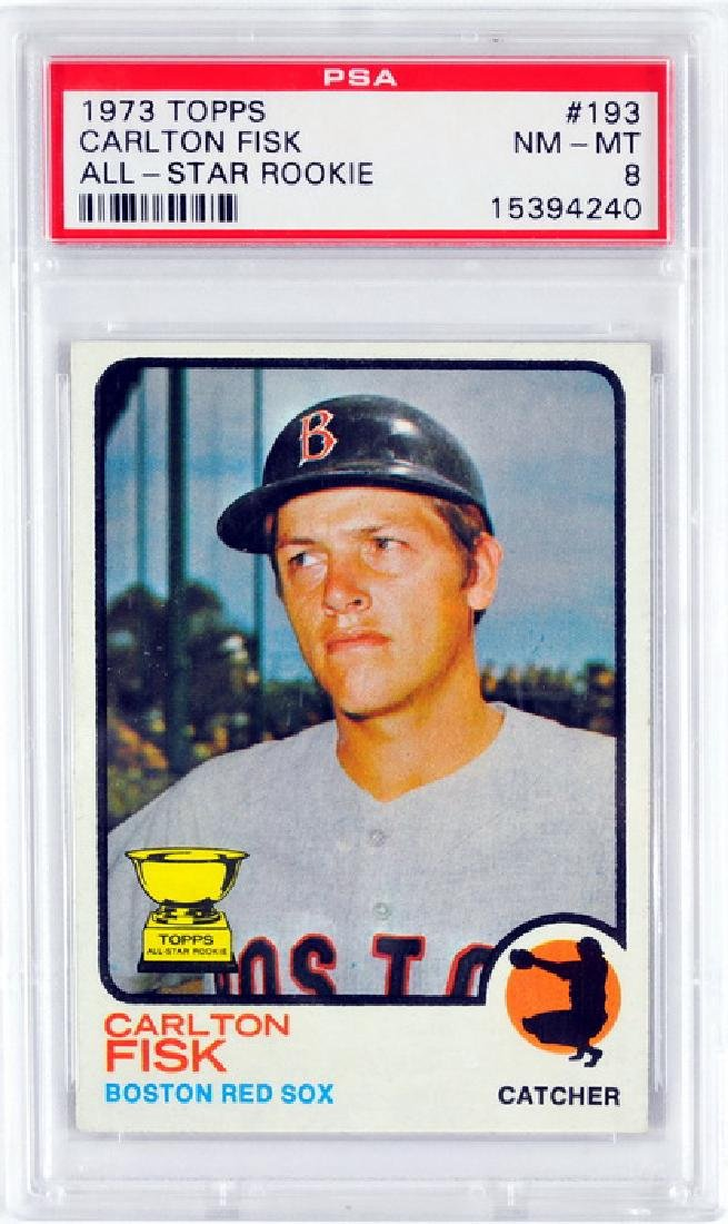 1973 Topps Carlton Fisk All-star Rookie Psa 8