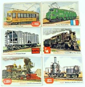 70 1950's Rails And Sails Cards