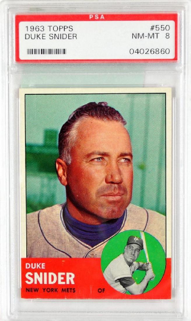 1963 Topps Duke Snider Psa 8