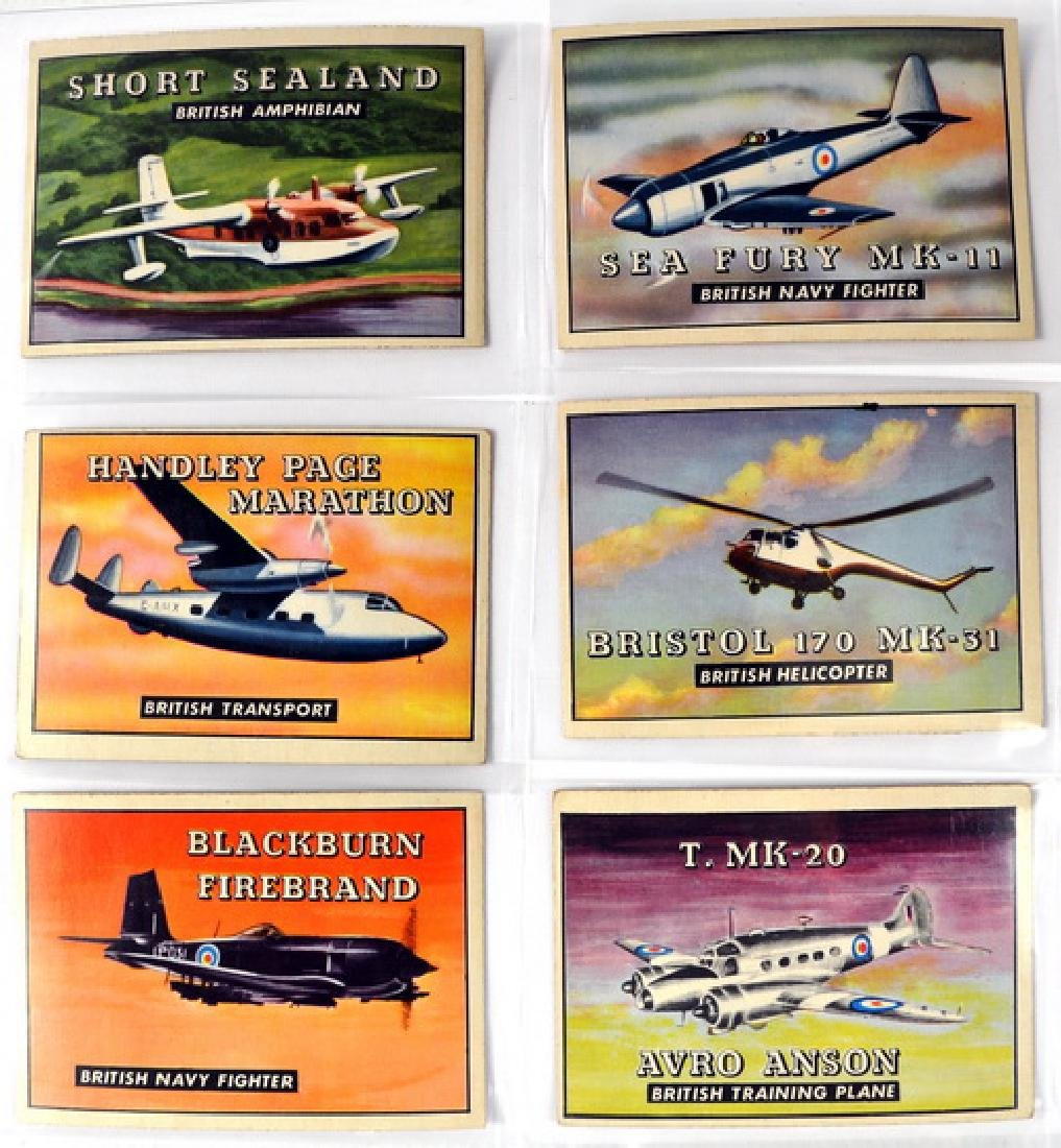120 Vintage Non Sports Cards Planes/ships/military
