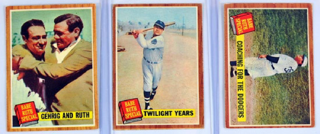 10 Card 1962 Topps Babe Ruth Story Set