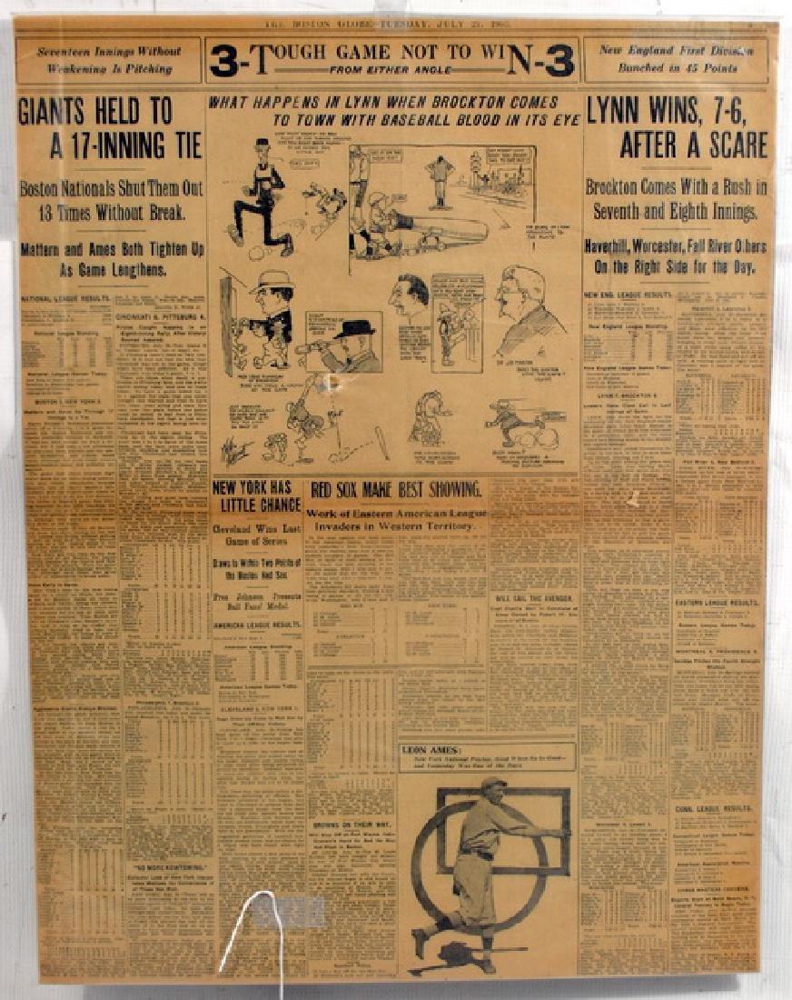 Three Early 1900's Baseball Newspaper Covers
