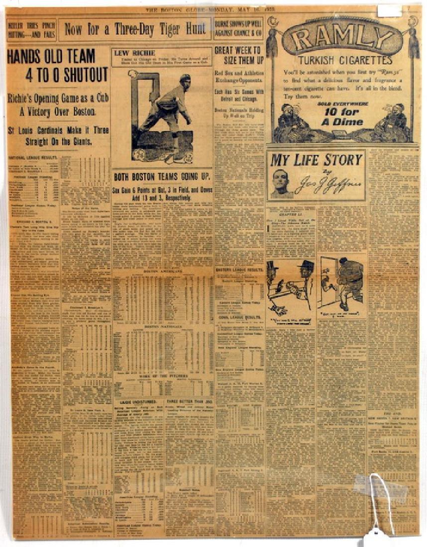 Four 1910 Baseball Newspapers