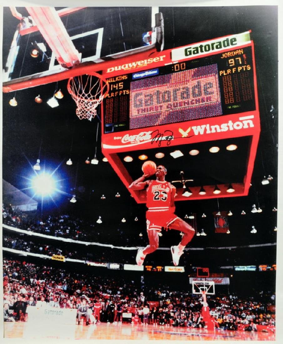 Michael Jordan Signed Unframed Canvas