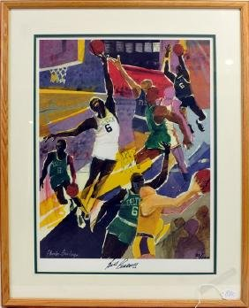 Phoebe Beasley Autographed Bill Russell Lithograph
