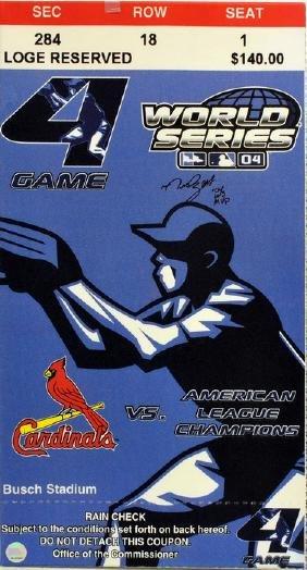 2004 Mega Ticket Canvas Manny Ramirez Auto