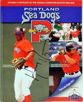 Hanley Ramirez Signed Sea Dogs Yearbook