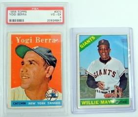 Three Baseball Legends Cards