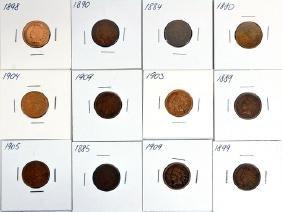 59 Us Indian Head Pennies