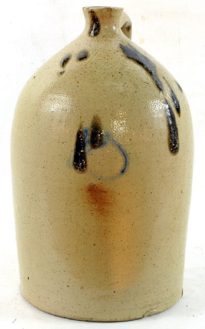 Antique Stoneware Jug, Brown Glaze