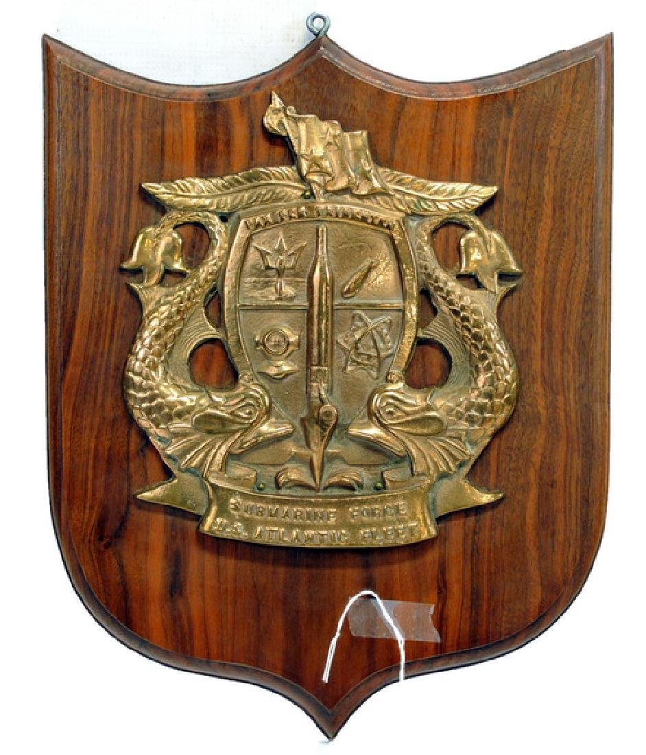 Original Brass Submarine Fleet Plaque