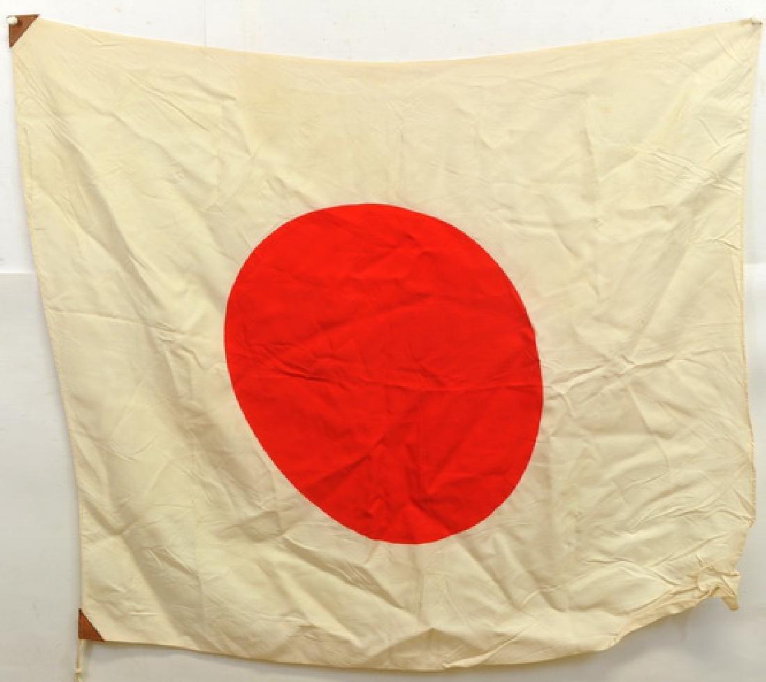 Wwii Silk Japanese Meatball Flag