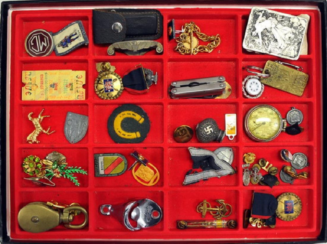 Estate Smalls/pocket Watch/patches/dresser Items