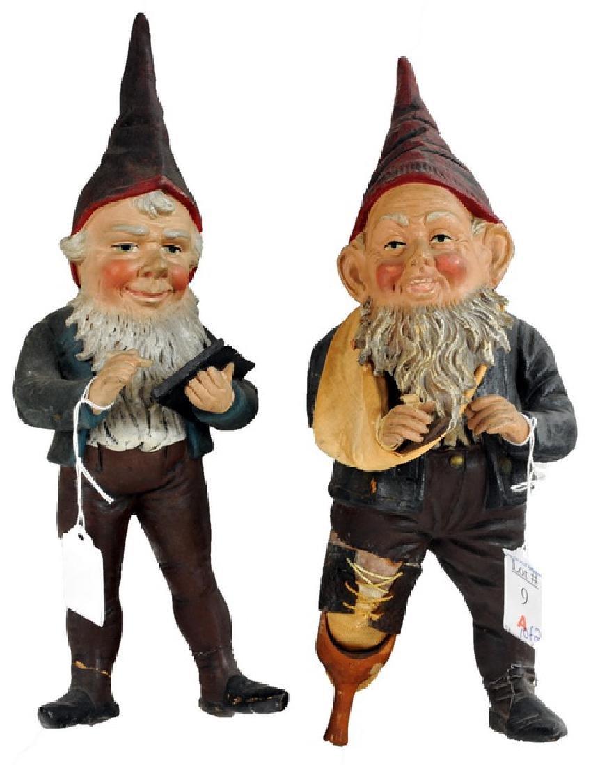 Pair of Antique Gnome Figurines