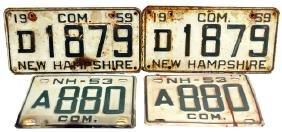 19 Vintage New Hampshire License Plates