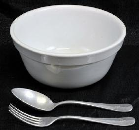 Wwii Nazi Bowl And Flatware
