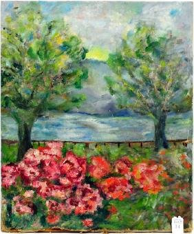 Oil on canvas scenic, by Irene Luke