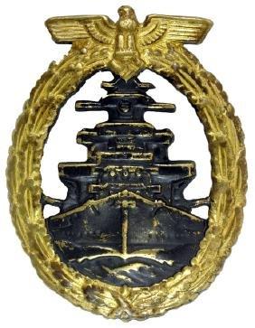 Wwii German Navy Kreigsmarine Badge