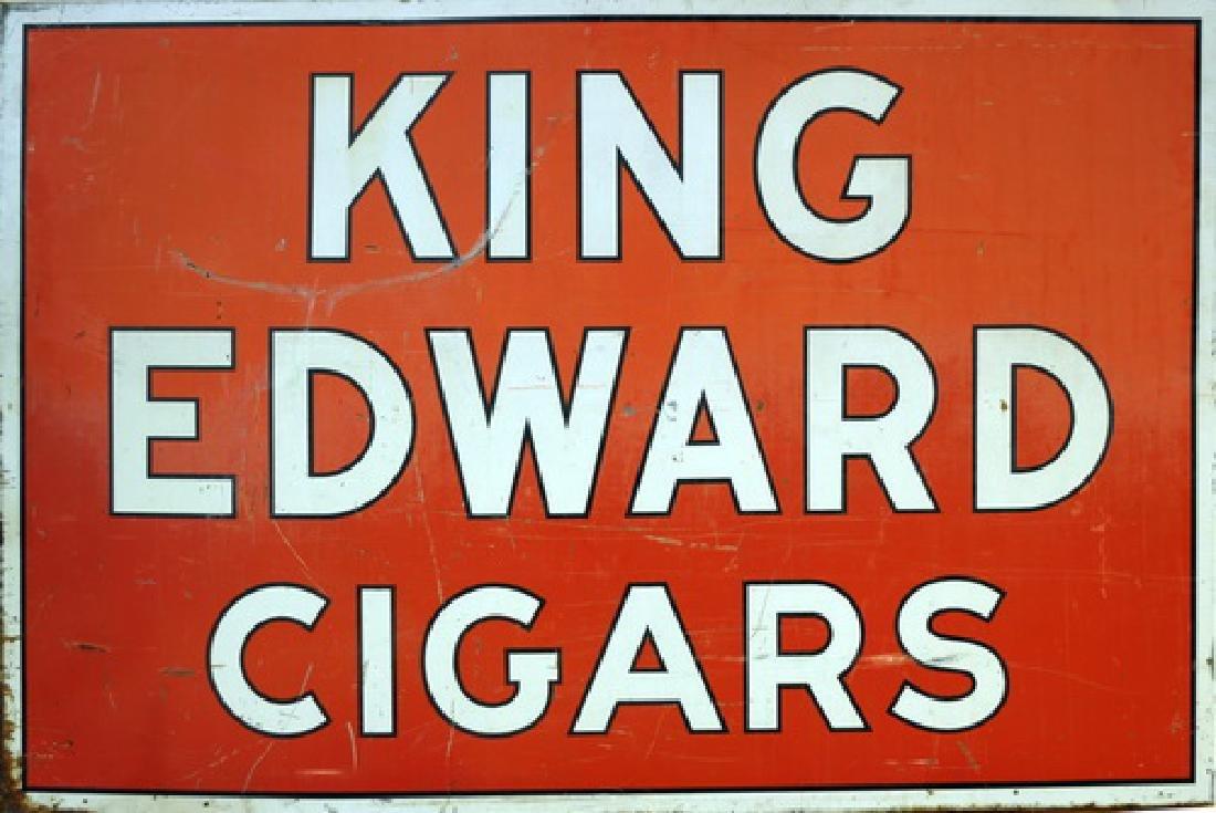 Vintage King Edward Cigars Double Sided Sign