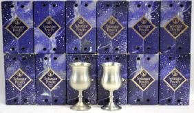 """12, 5"""" high Pewter Goblets in their original boxes"""