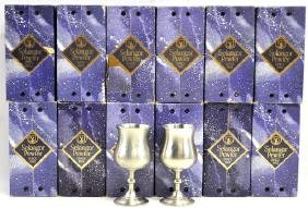 """12, 6 1/4"""" Pewter Goblets in their original boxes"""