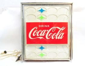 Vintage Drink Coca-Cola Light Up Sign Working