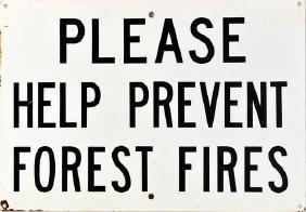 Original Vintage Maine Forest Service Sign