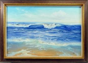 Oil on Canvas of Seascape signed Donavan