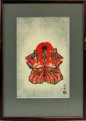 Two signed woodblock Prints