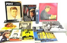 Two Boxes of Kennedy Family Items