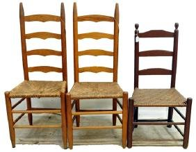 7 Antique Chairs Various Styles