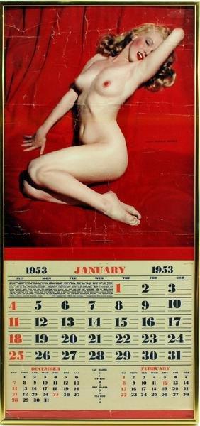 1953 January Calendar of Marilyn Monroe