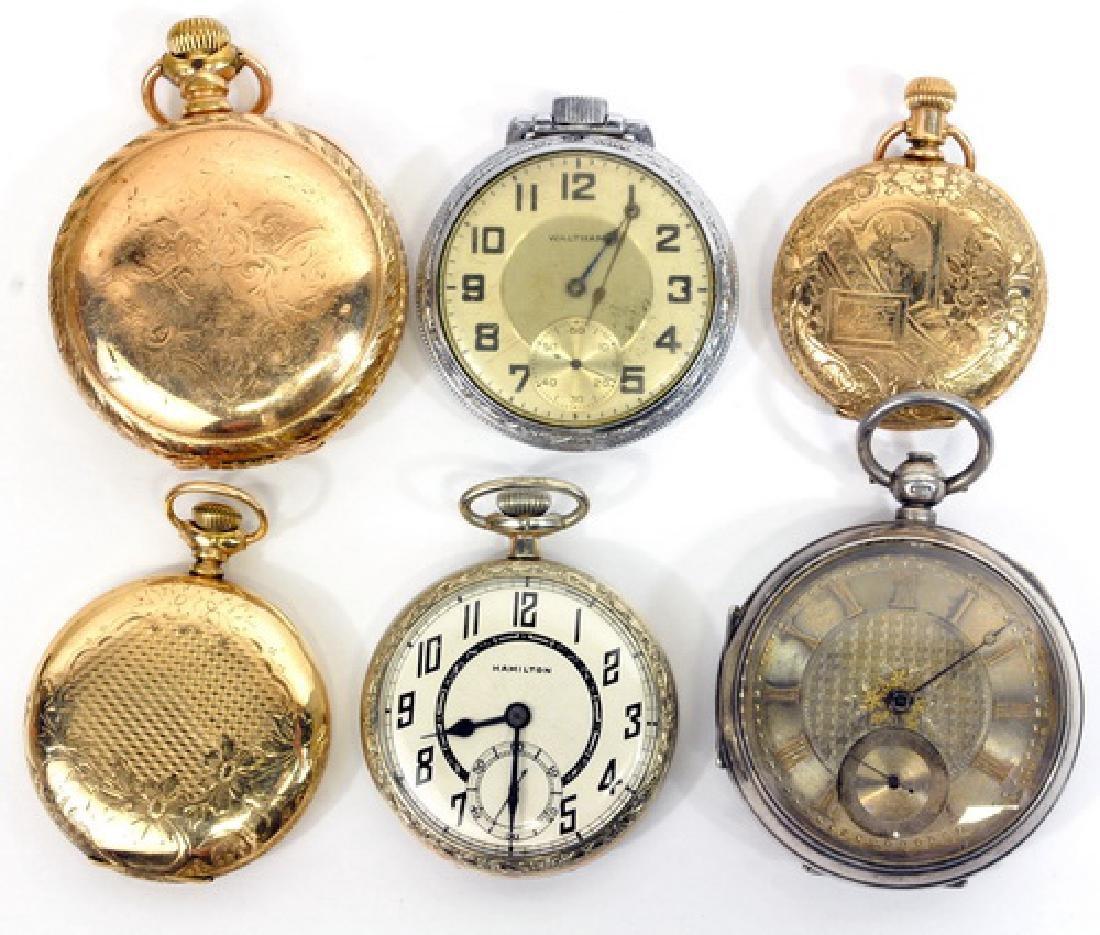 6 Antique Pocket Watches