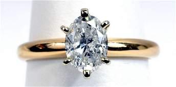 Ladies 14k Egl Certified 1 Cttw Diamond Ring