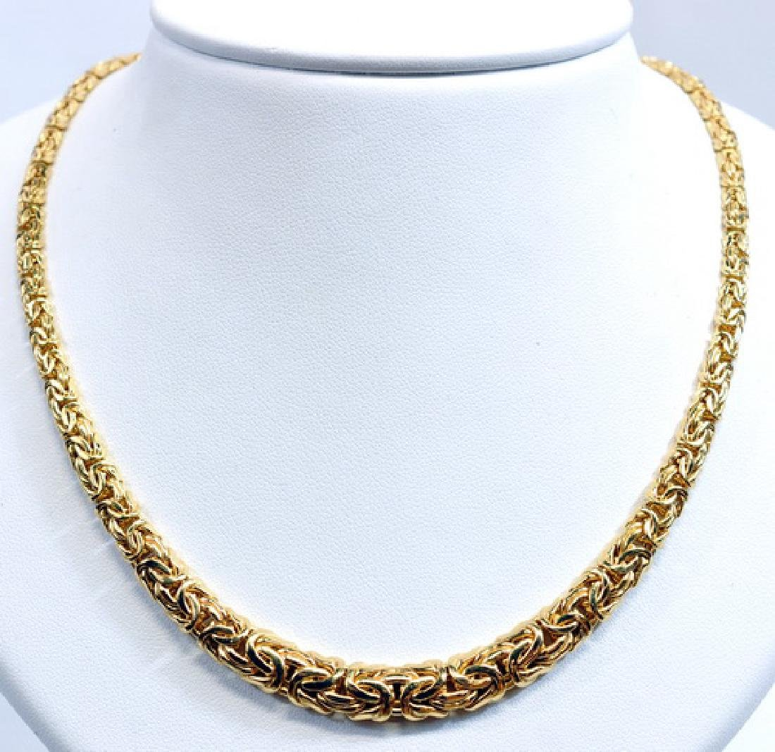 """Ladies 14k Yellow Gold 17"""" Graduated Necklace"""