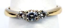 Ladies 18k White Gold 1/3 Cttw Three Stone Ring