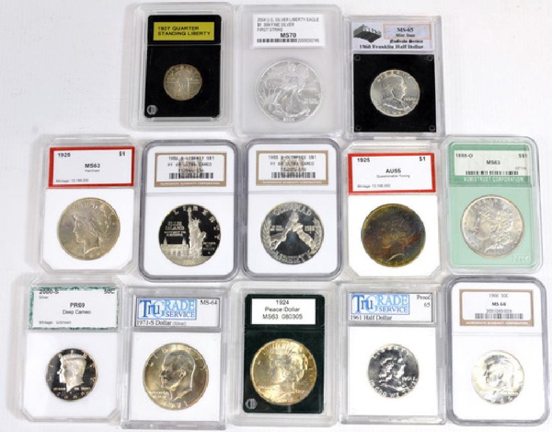 US Graded and Ungraded Coins