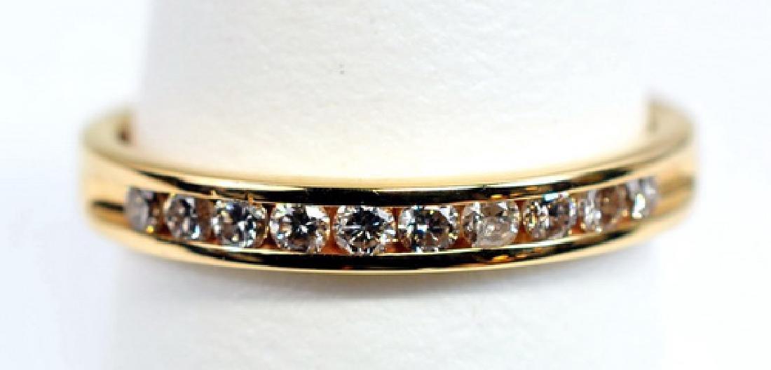 Ladies 14k Gold 1/4 Cttw Diamond Band Ring