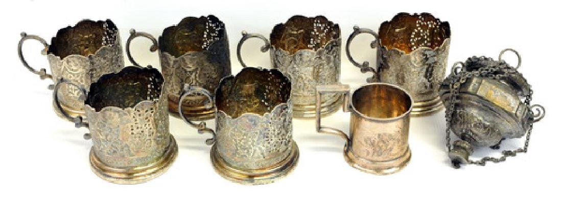 8 Pieces Of Antique Silver
