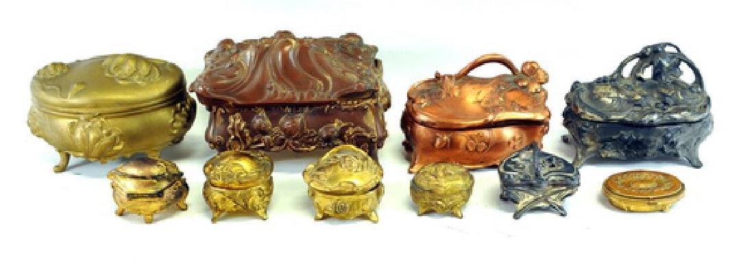 15 Decorative Trinket Boxes/metal/brass